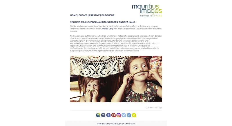 Ab sofort bei den Top Fotografen von mauritius images