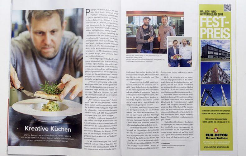 Hamburger Catering im Magazin Hamburger Wirtschaft