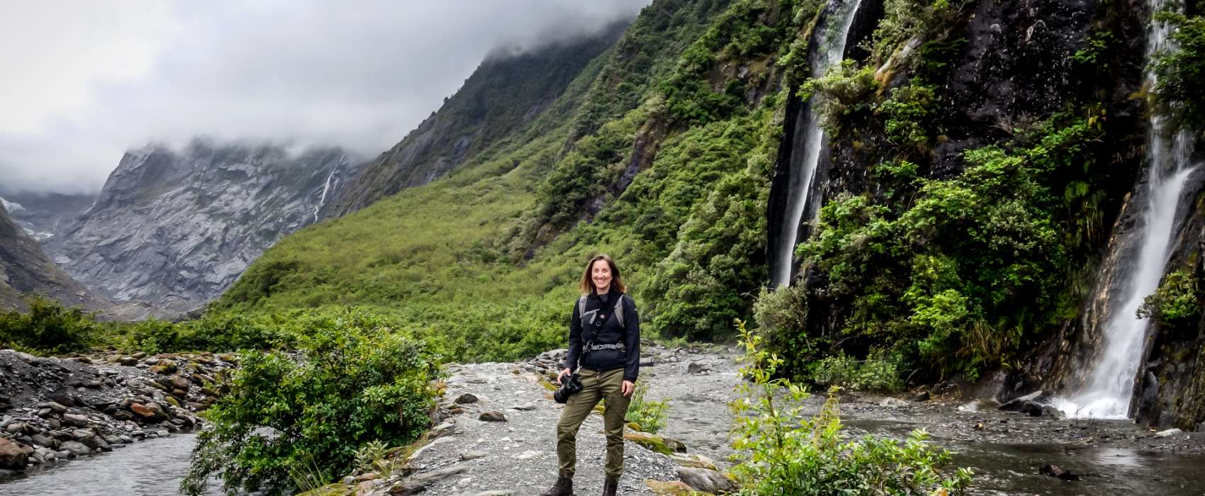 Portrait von Fotografin Andrea Lang in Neuseeland