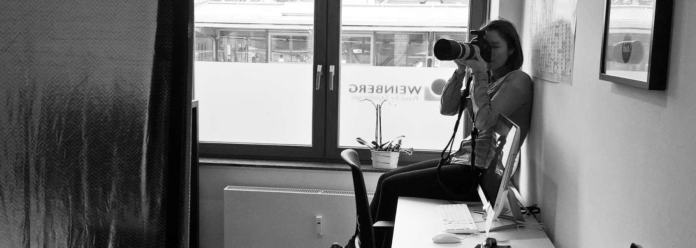 Behind the Scenes vom Praxis Shooting bei Ergotherapie Praxis Weinberg