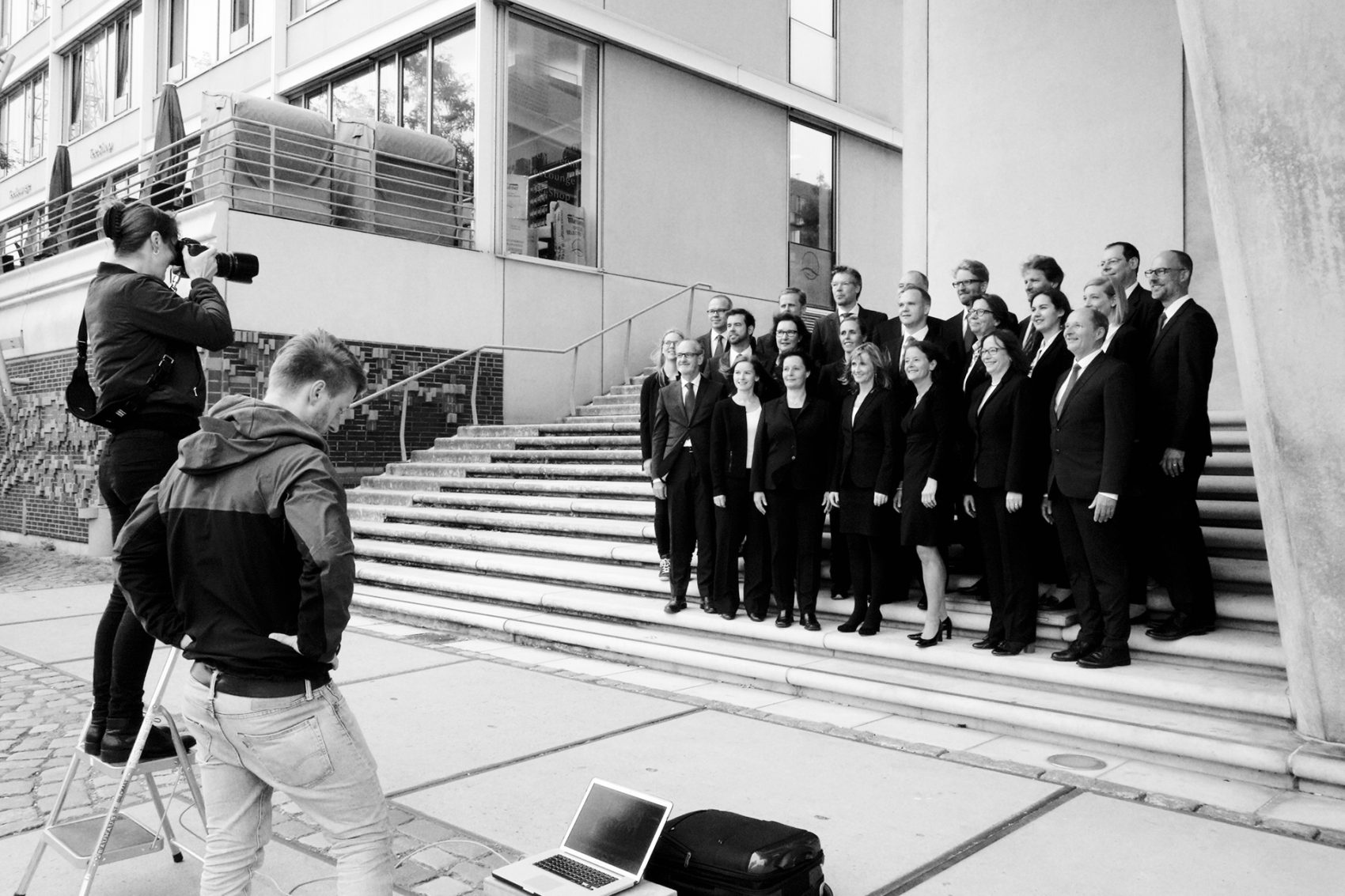 Making Of vom Manager Shooting der Management Angels