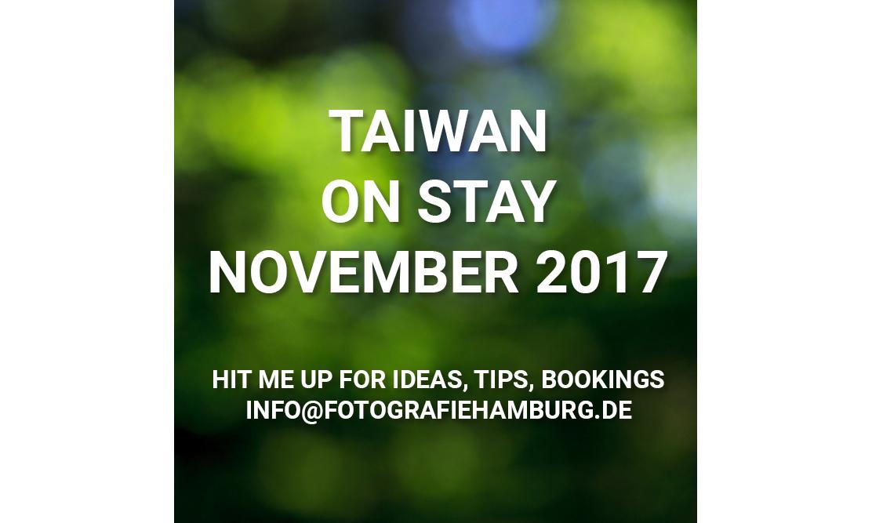 Taiwan Fotoreise Ankündigung