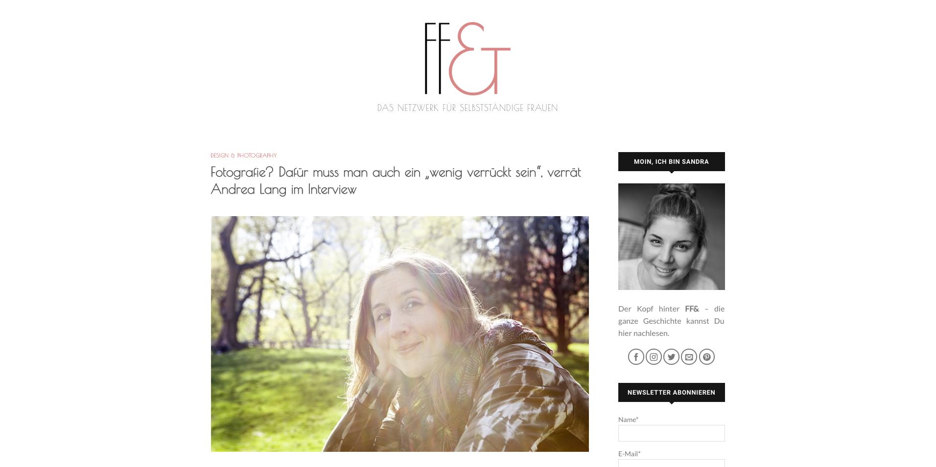 Interview der Fotografin Andrea Lang im Blog Frau, frei &