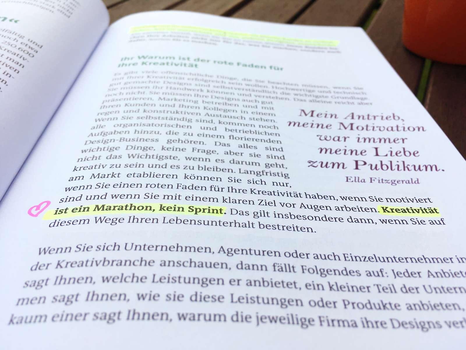 Buchrezension Kreativ sein, kreativ bleiben von Gudrun Wegener