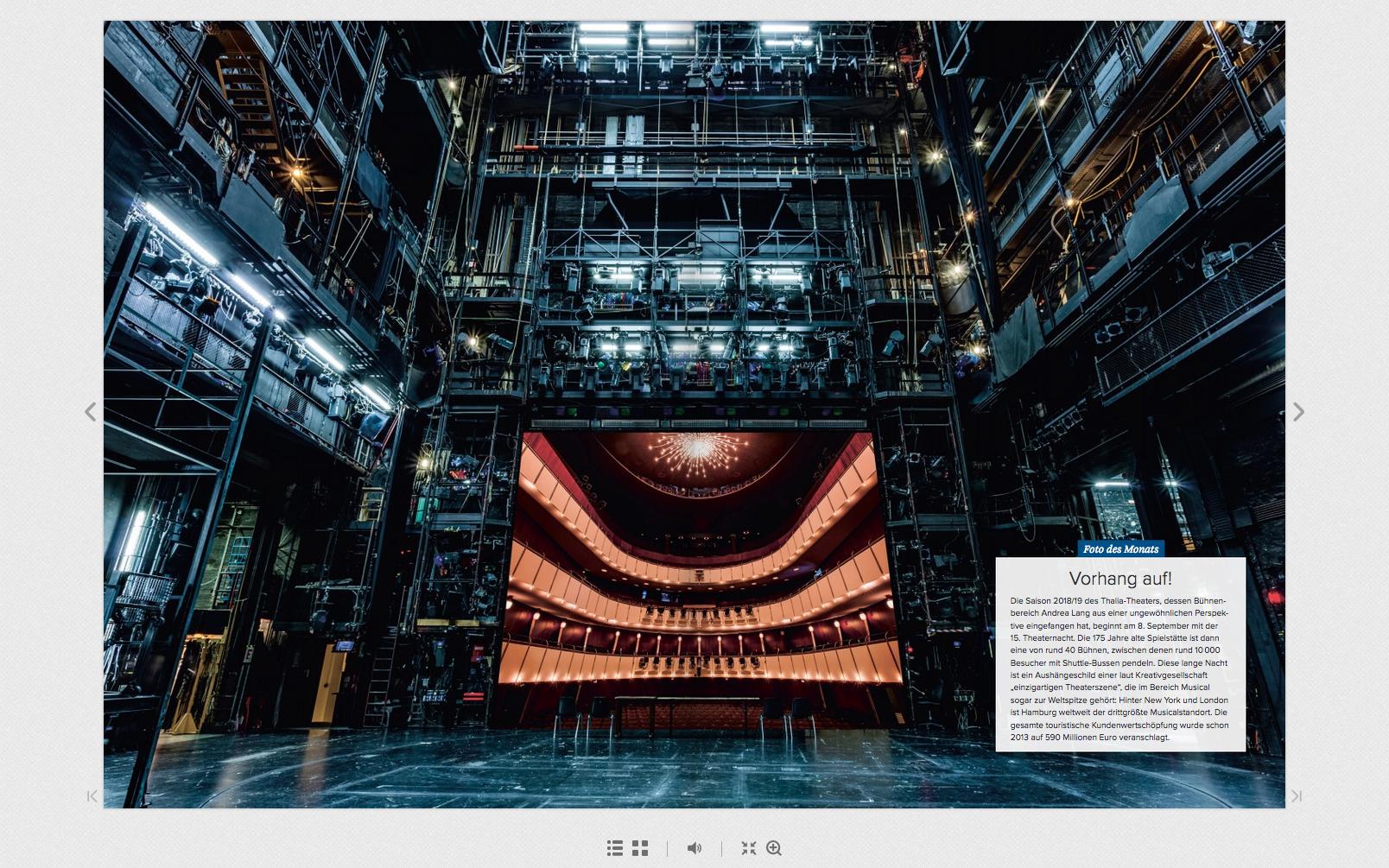 Foto des Monats in der Hamburger Wirtschaft - Andrea Lang´s Thalia Theater Bühne