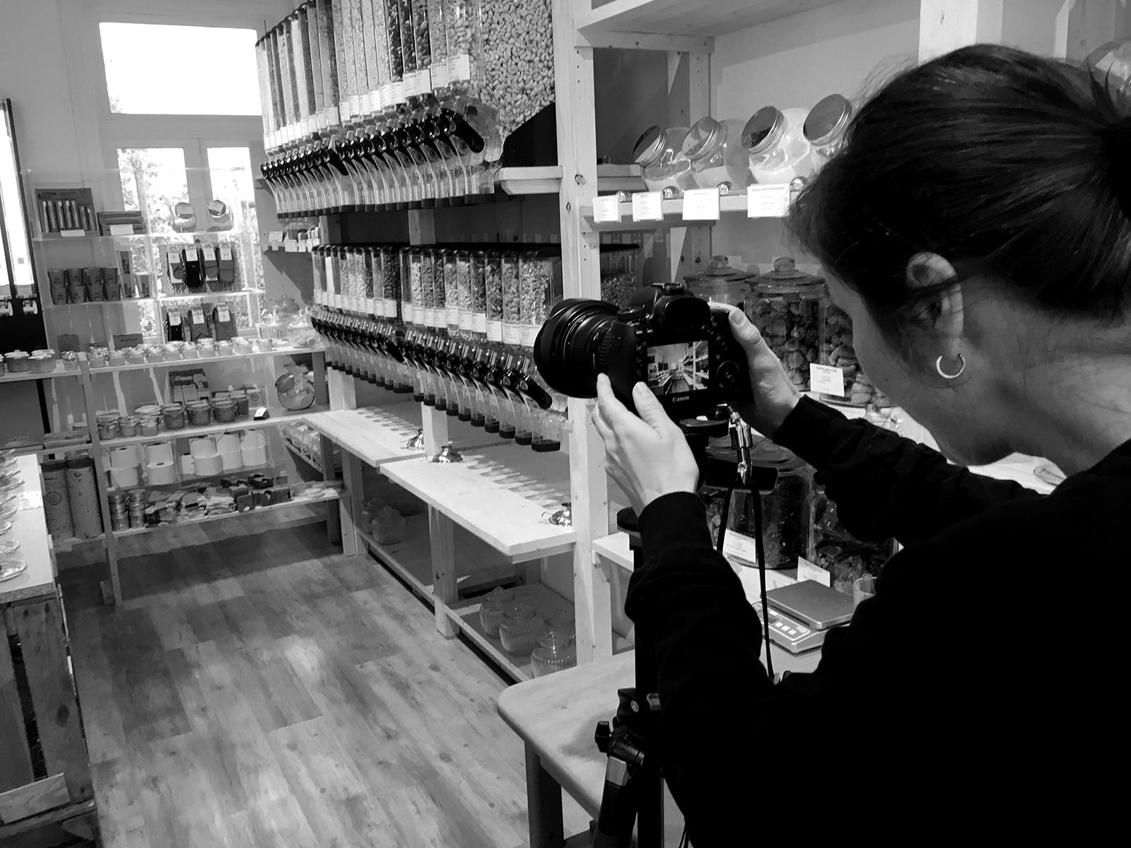 Nachhaltige Fotografie - Making Of vom Zero Waste Laden Onkel Emma