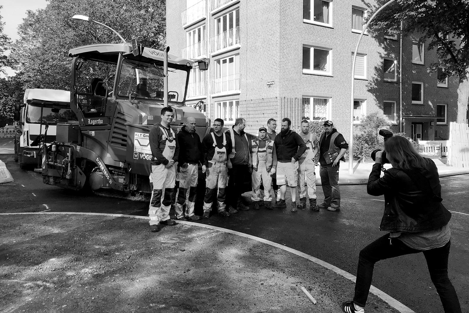 KLT Verkehrswegebau GmbH, Straßenbau, bts, Making Of, baustelle Heußweg