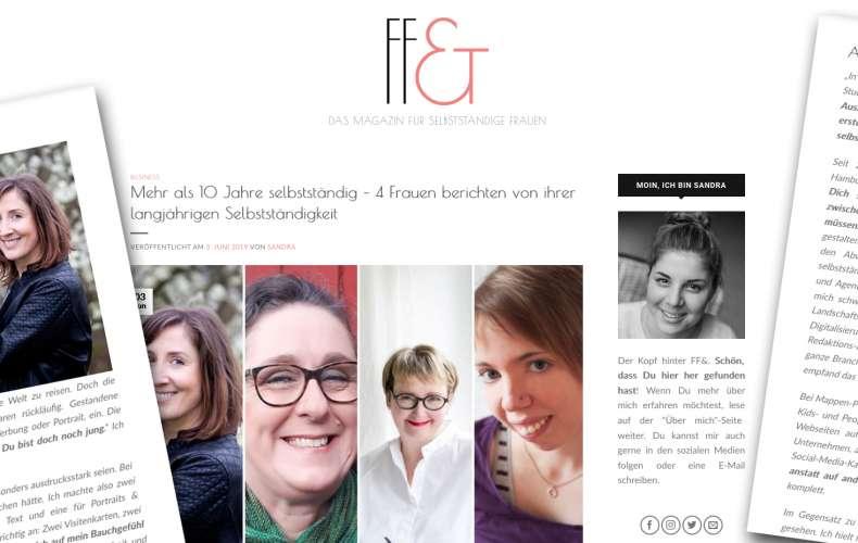 Mein Interview bei Frau, frei & über langjährige Selbstständigkeit