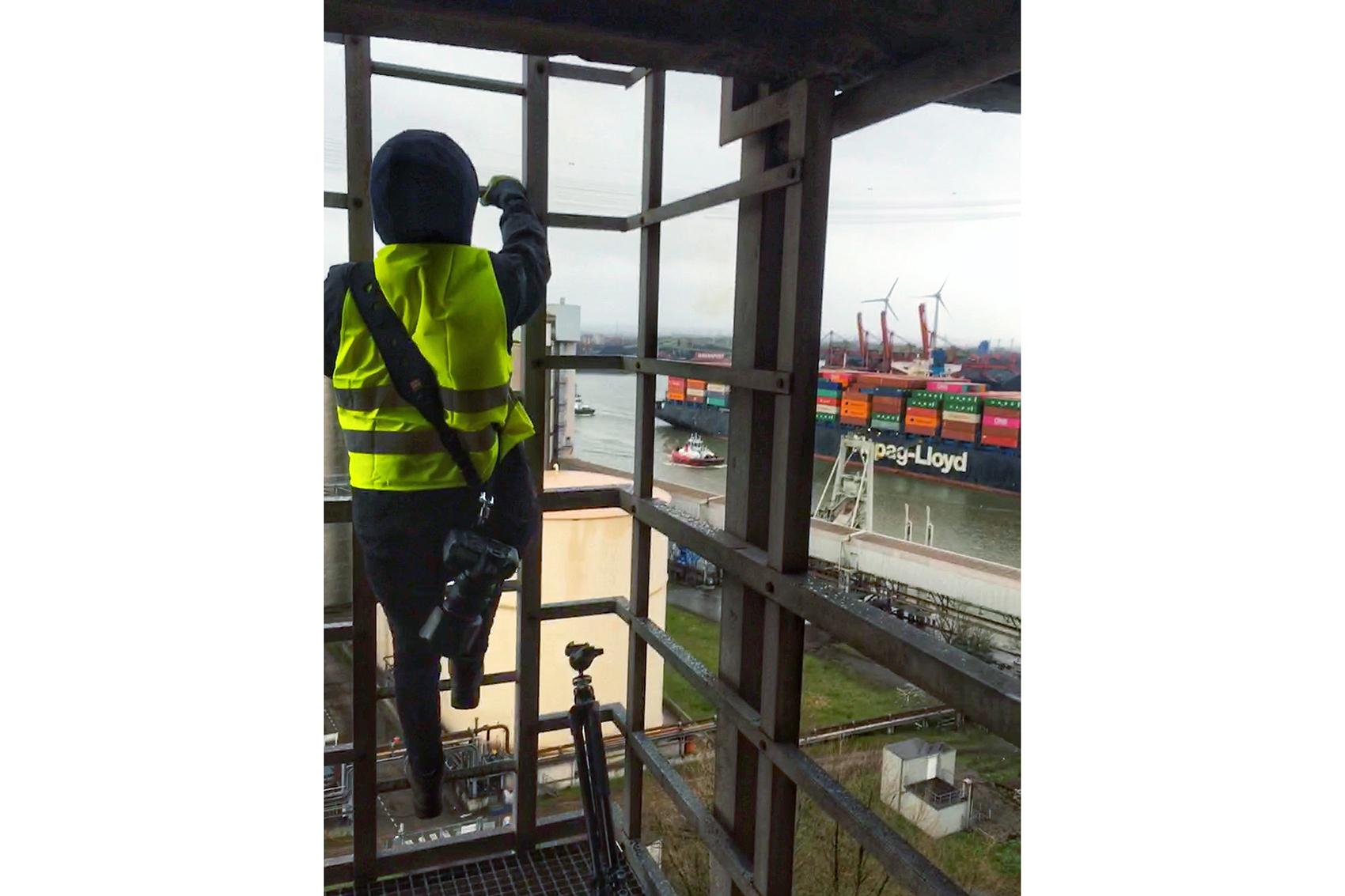 Behind the Scenes vom Shooting: DYWIDAG Bauarbeiten auf der Köhlbrandbrücke