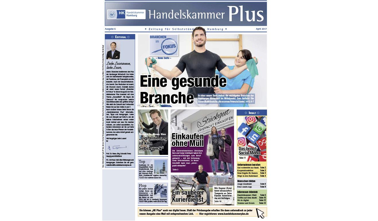 Handelskammer Magazin Hamburger Wirtschaft über Stückgut