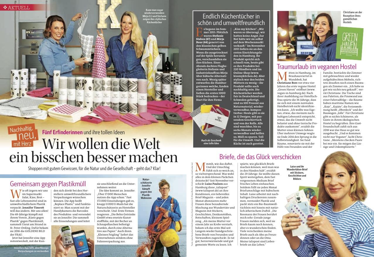 Green Haven Artikel in Bild der Frau. © Andrea Lang / fotografiehamburg.de