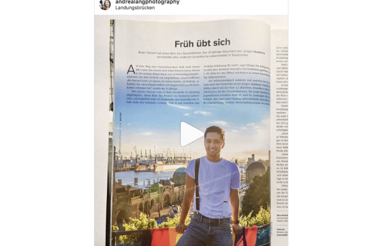 Editorial of one of Hamburgs youngest founders Arian Tehrani